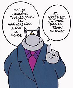 An niversaire Humour Le Chat